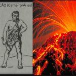 Graus 1 a 5 de Vulcão - ou Carneiro/Áries
